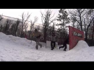 турнир по спрот пейнтболу три на три зимой пейнтбольный клуб скорпион 11