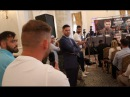 'YOU SH*T YOURSELF' - BILLY JOE SAUNDERS EPIC TROLLING OF CANELO GOLOVKIN DURING MIDDLE OF PRESSER