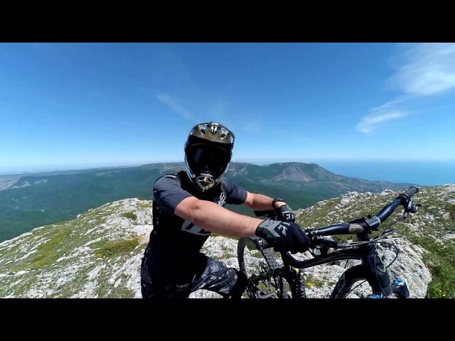 Трейл Можжевеловый, он же спуск с Ангар-Бурун на велосипеде, Чатыр-Даг