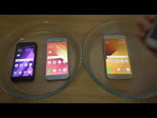 Samsung Galaxy A7 vs A3 vs A5 (2017) Coca Cola Test