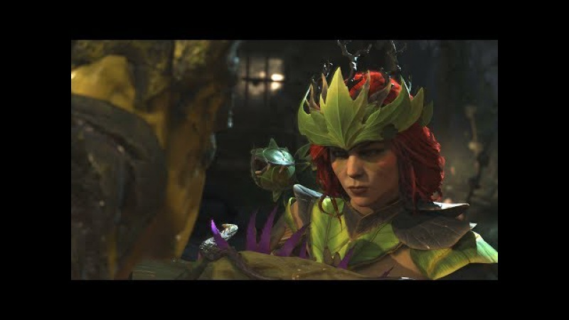 Injustice 2 - Swamp Thing Vs Poison Ivy - All Intro Dialogue/All Clash Quotes, Super Moves