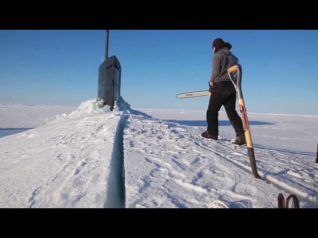Американская Подводная лодка застряла во льдах Антарктиды