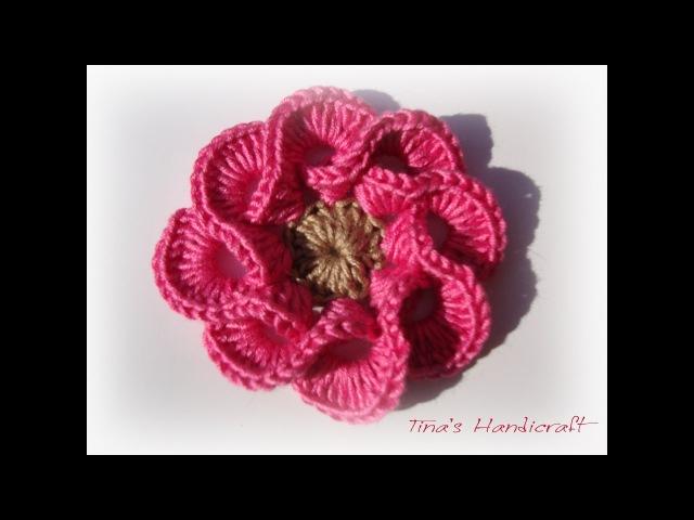 3D crochet flowers multi petals - 1