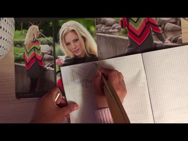 Пуловер миссони .Как вязать от угла.Вязание по диагонали. 1 часть