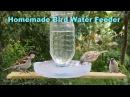 How To Make A Bird Water Feeder   DIY Homemade Plastic Bottle Bird Water Feeder