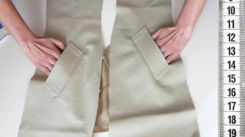 Я ШЬЮ: Тренч ч.3 КАРМАН с накладной листочкой / I SEW: Pocket