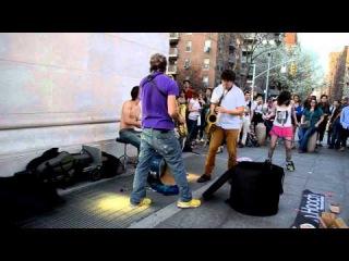 Moon Hooch- NYC Live- Washington Sq. Park 3/22/12
