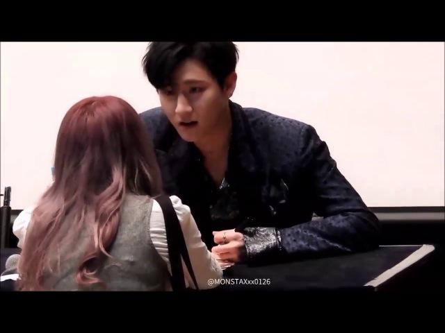 몬스타엑스 아이엠/창균 : Changkyun when a fan crying in front of him (so gentle and soft!!)