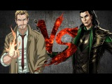 КОНСТАНТИН против ЛОКИ | CONSTANTINE vs LOKI [CT Fight Club | DC | Marvel]