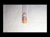 Зимний дизайн ногтей Девочка в ушанке