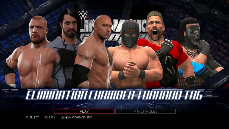 Elemination Chamber HHH\Rolins\The Rock vs Anguins\Nash\Overlord