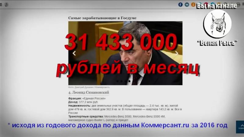 Доходы силовиков и чиновников. Или кому на Руси жить хорошо.