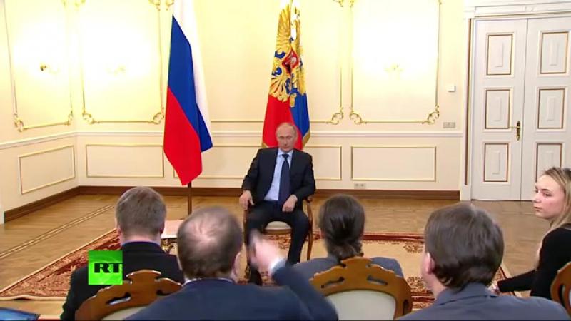 Москва. 4 марта, 2014. Встреча Владимира Путина с прессой по Украине