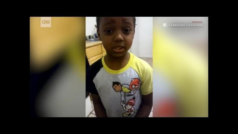 Шестилетний мальчик просит гангстеров прекратить насилие. (vk.com/ghetto.world)