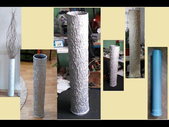Как сделать высокую вазу для декоративных длинных веток High vase for decorative long branches