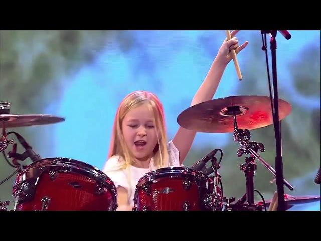 10 летняя барабанщица выиграла шоу талантов в Дании 2017Классно бацает