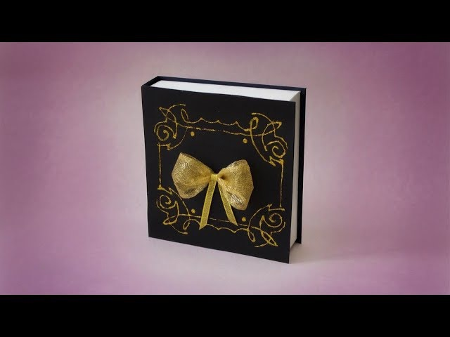Подарок учителю. Коробка своими руками в виде книги.
