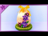DIY Ribbon Easter egg and mini kanzashi flowers (ENG Subtitles) - Speed up #313