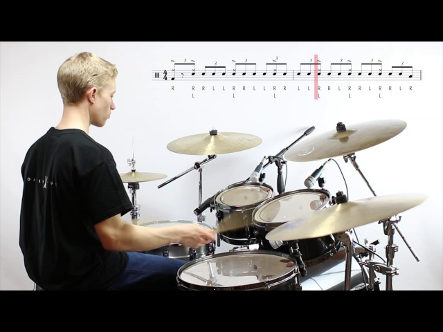 Daily Chops 17 – Jazz Drum Fill no. 3: Swiss Army Triplets – Weckl-style