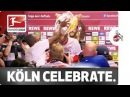 Köln crash Europe - Modeste Co. gatecrash post-match press conference