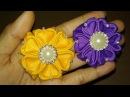 DIY Cara Membuat Kanzashi Amore Grosgrain Ribbon 08 🌸 Bros Bunga Lista Tsurayya