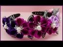 DIY Kanzashi | Stoffblumen Haarschmuck basteln | Ribbon flower hairband | Accessories