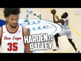James Harden HALF COURT Oop To Marvin Bagley III - Triple Double in Drew League Playoffs