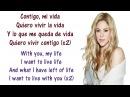 Shakira Suerte Whenever Wherever Lyrics English and Spanish Translation Meaning Letras