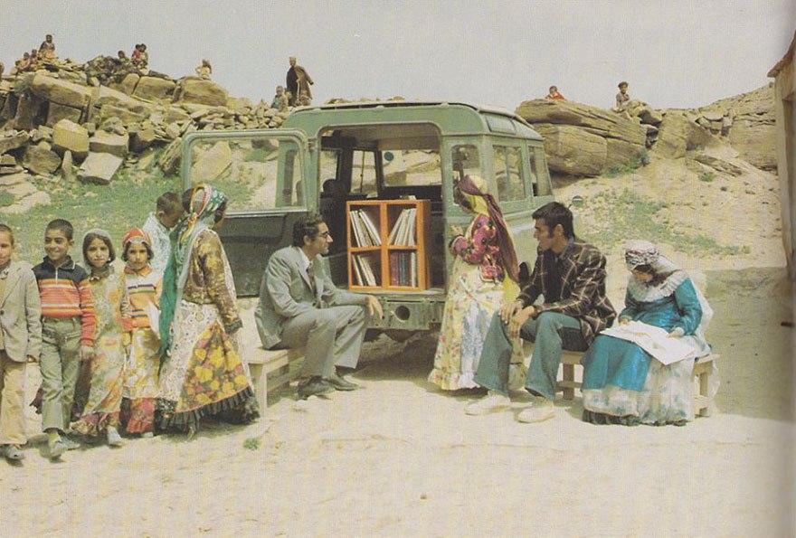 Мобильная библиотека В Курдистане, Иран, 1970 год