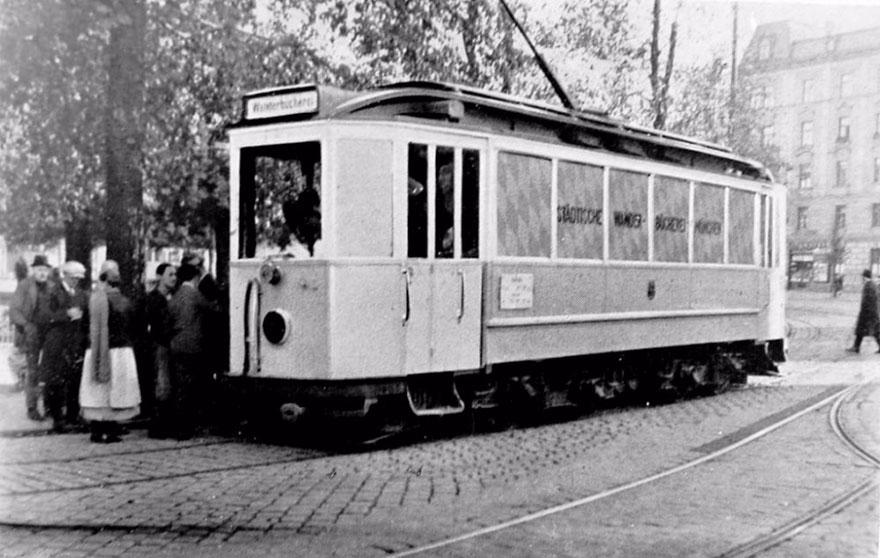 Трамвай-библиотека в Мюнхене