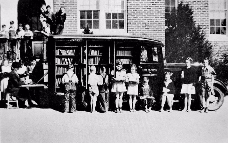 Букмобиль в Гринсборо, Северная Каролина, 1936 год