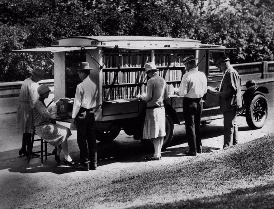 Передвижная библиотека в Цинциннати, 1927