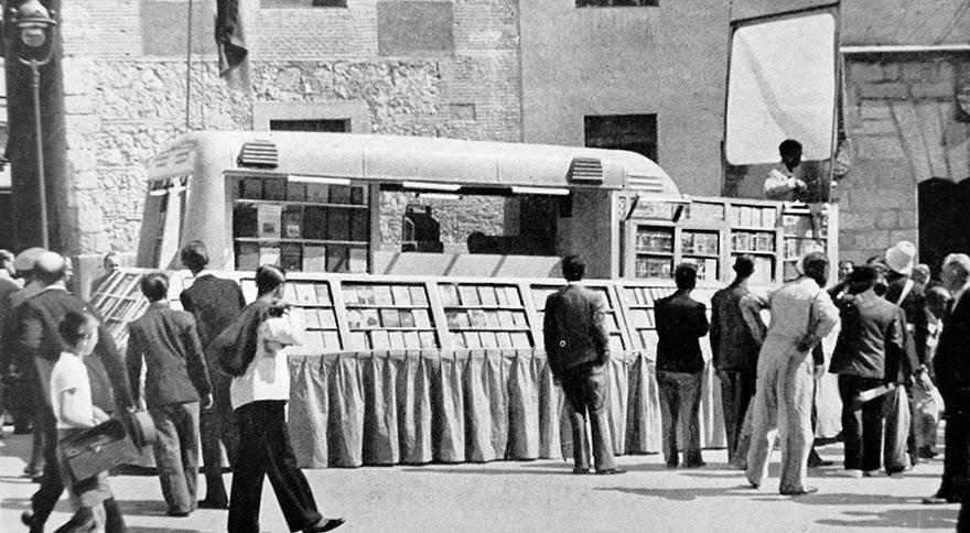 Передвижная библиотека в Мадриде
