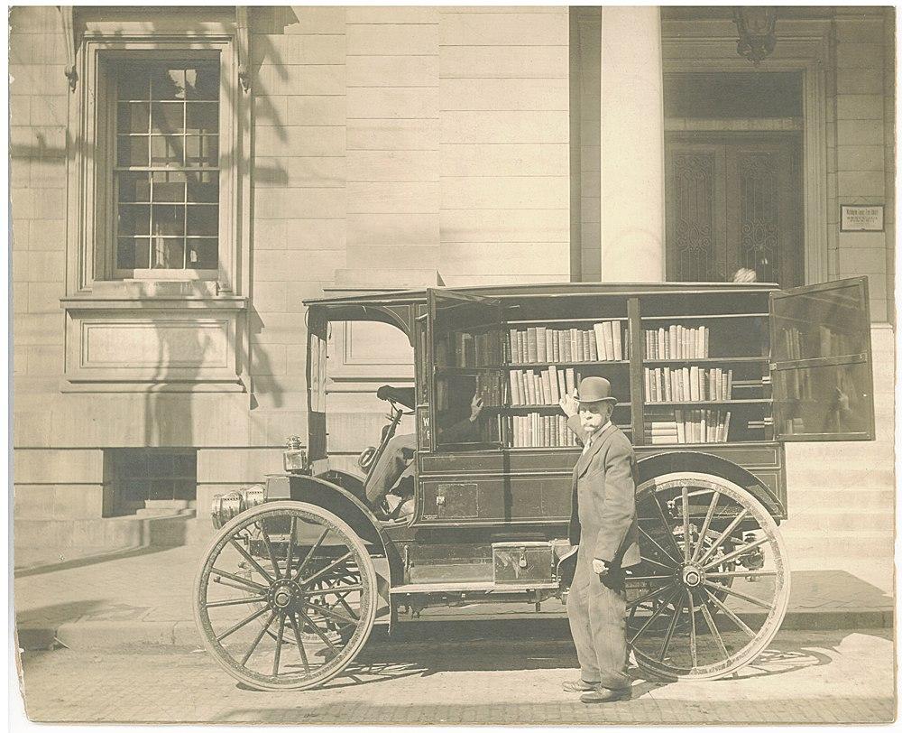 Красивый букмобиль в штате Мэриленд, фото 1916 года.