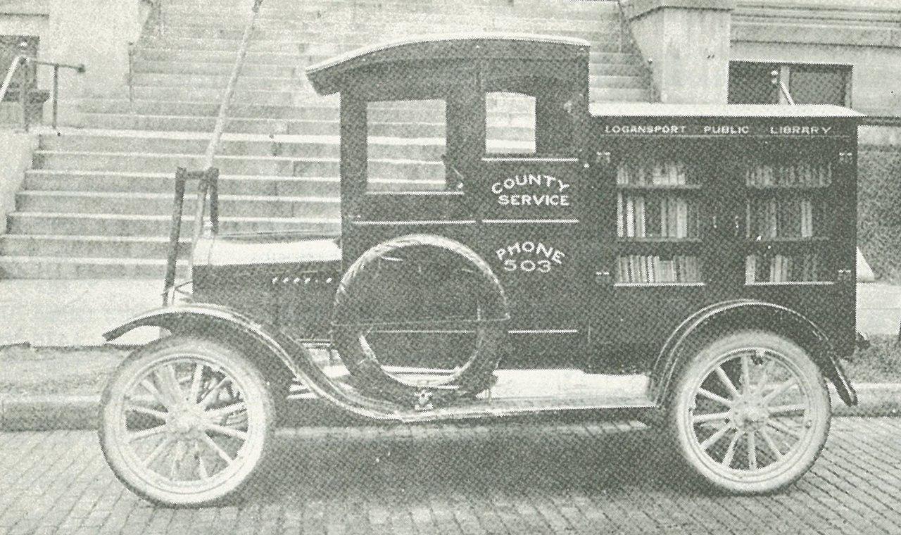 Библиотека на колесах в Индиане