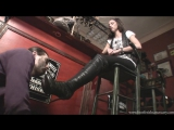 Goddess Maria Boot fetish slave cleaning licking boots serbian feet #femdom #mistress #heels