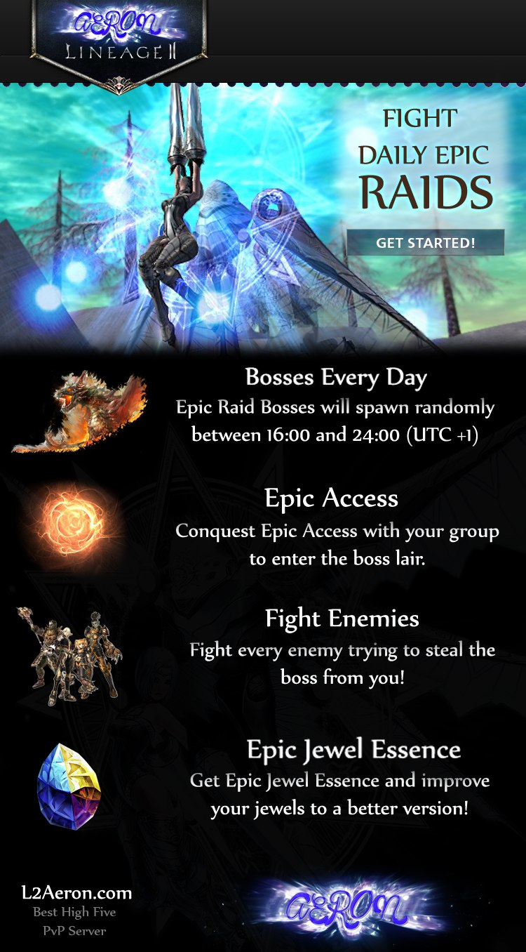 [L2j-Hi5] Lineage2 x5000 High Five PvP server L2Aeron  in Advertising Server/Site Zone is community website