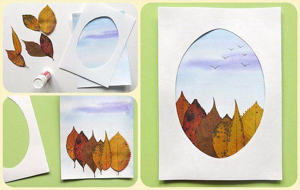 Картины поделки осень 59