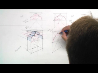 14 - 7. A Trefoil Arch and a Ogee Arch drawn in Perspective Part 3