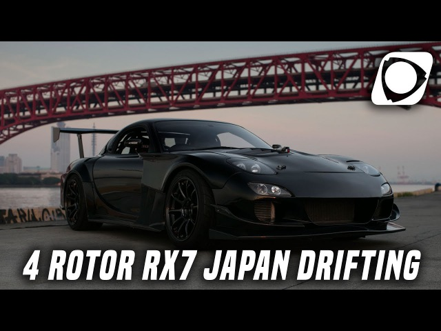 4 Rotor 26B FD Mazda RX7 Drifting In The Mountains Of Japan