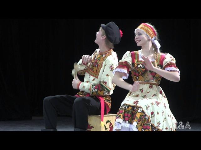 00059 Kamarinskaya Russian dance Камаринская Ложкари Роза Ветров