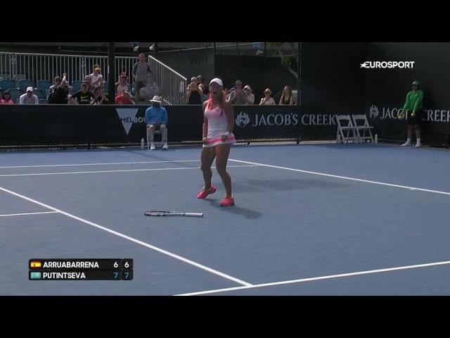 Юлия Путинцева бурно отпраздновала победый старт на Australian Open (видео Eurosport)