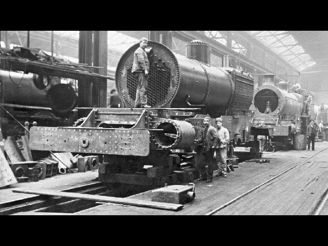 Строительство паровозов, познавательный фильм 1930 года