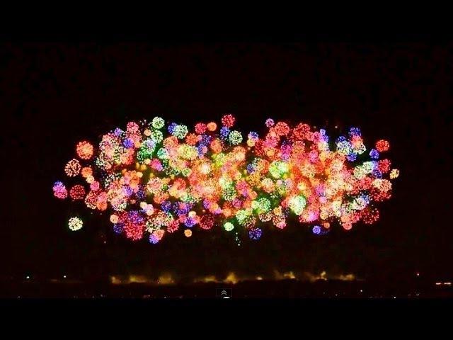 こうのす花火大会 鳳凰乱舞 2013 四尺玉 Worlds Largest Fireworks 48 inch shell 2013 Japanese fireworks