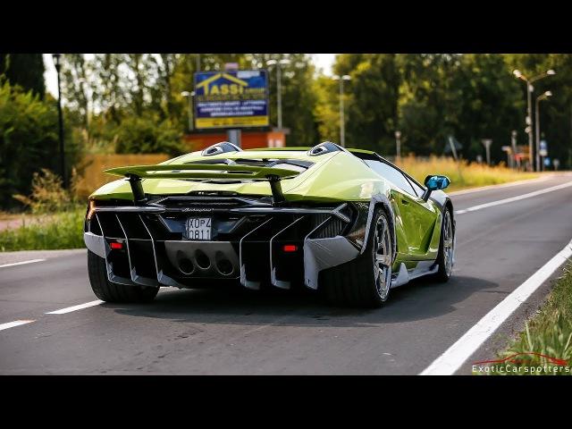 $2.3M Lamborghini Centenario LP770-4 Roadster Driving on the Road !