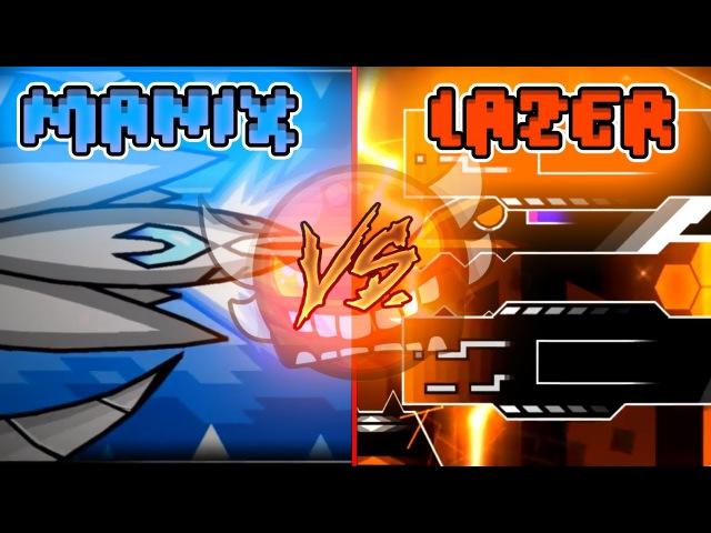 [NEW] Manix VS Lazerblitz TOP 5 BATTLE! -Geometry Dash List Battles EP 1-