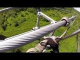 Опасная работа электрика, 765 000 Вольт ЛЭП. Установка вкладышей с вертолета.