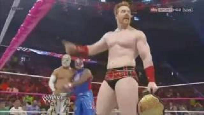 Rey Mysterio, Sin Cara y Sheamus vs Del Río, Rodríguez y Otunga