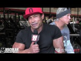Danny Hester Trains Chest with Mickey Rourke - 1 Week Out