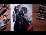 STAR WARS  Darth Vader - speed drawing  drawholic
